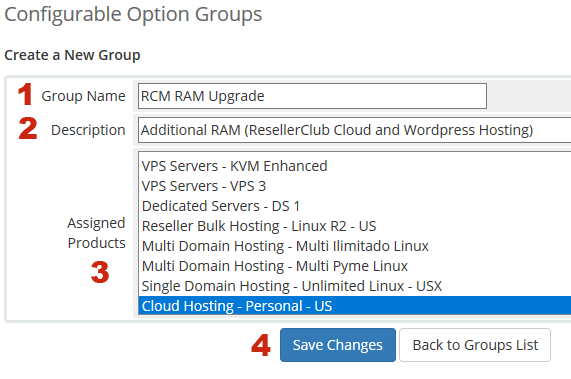 RAM Configurable Options Group