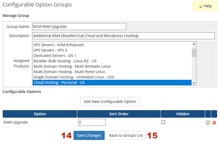 Overview Configurable Options