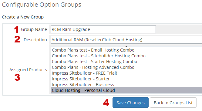 CPU Configurable Options Group