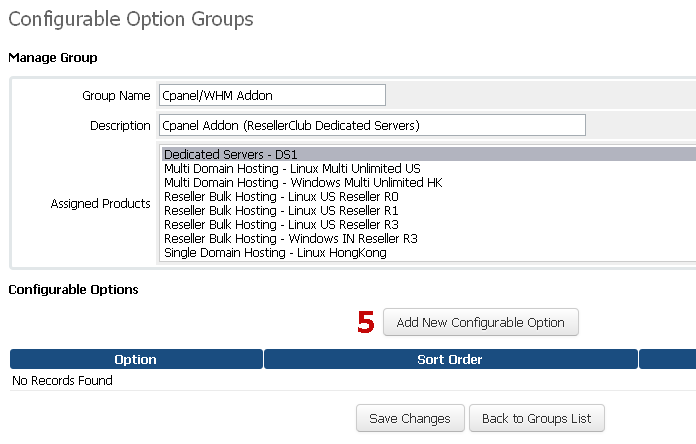 Manage Configurable Options for Control Panel Addon