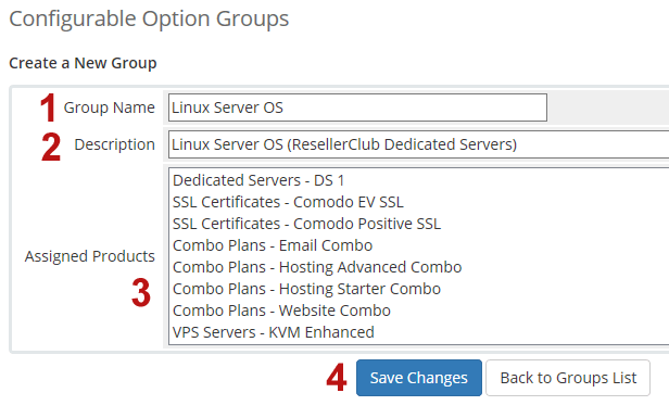 Configurable Options Group