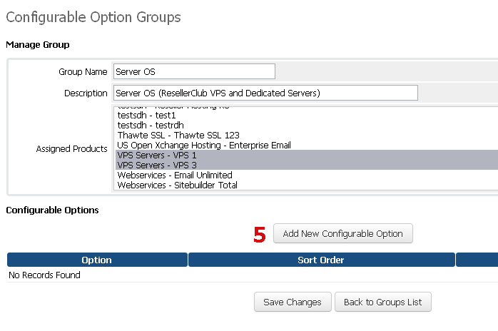 Manage Configurable Options for Server OS