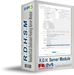 RDHSM - Resellerclub Dedicated Hosting Server Module