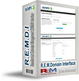 R.E.M.D.I - ResellerClub Extended Management Domain Interface