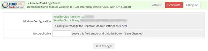 logicboxes registrar module configuration