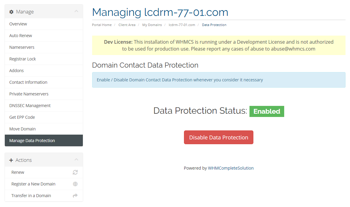 domain gdpr management