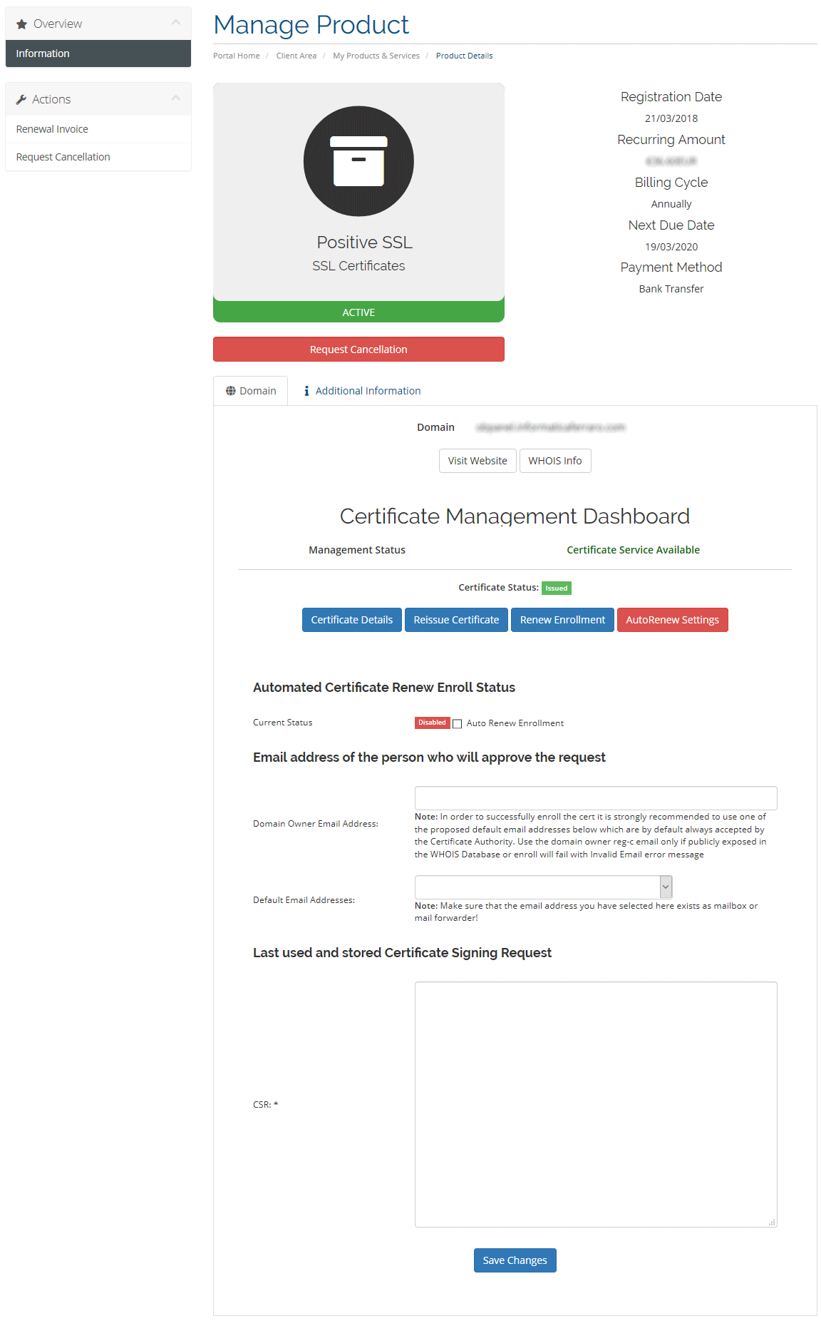 AutRenew Enroll Comodo Certificates