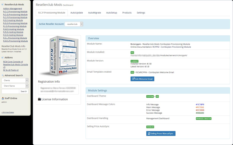 Core Addon Dashboard Combo Plan Module