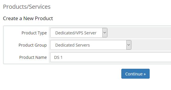 Server Product setup