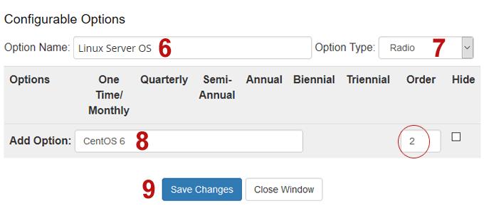Setup Configurable Options for Linux Server OS