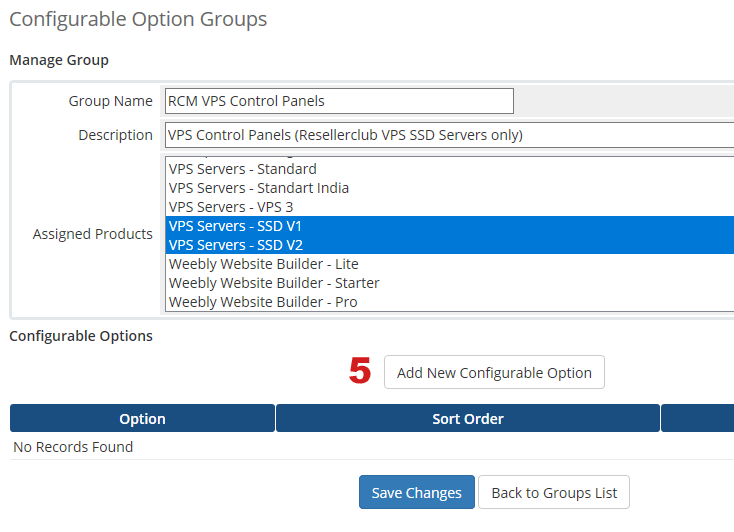Manage Configurable Options for Panel Addon